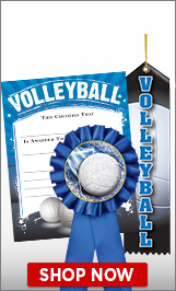 Volleyball Certificates & Ribbons