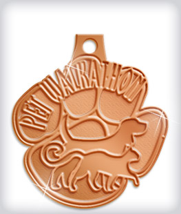 Shiny Bronze Custom Dog Medals