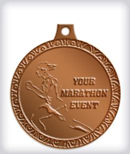 Antique Bronze Custom Marathon Medals