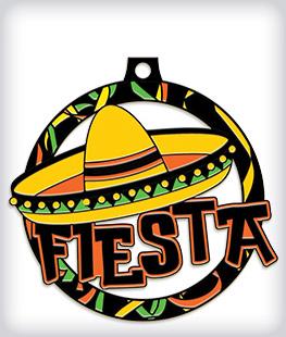 Black Dyed Custom Fiesta Medals