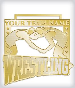 Shiny Gold Custom Wrestling Medals