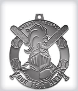 Antique Silver Custom Baseball Medals