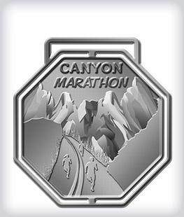 Antique Silver Custom Marathon Medals