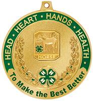 """2 1/2"""" 4-H Horse Medal"""