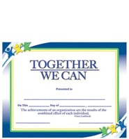 Together We Can Certificates