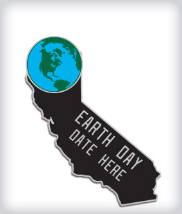 Custom State Shaped Community Event Pins