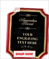 Appreciation Awards Plaque
