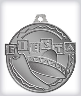 Antique Silver Custom Fiesta Medals
