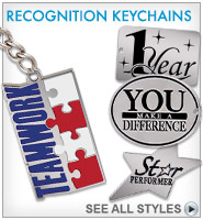 "1 1/2"" Recognition Keychains"