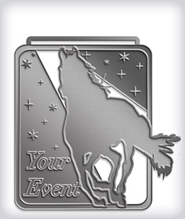 Antique Silver Custom Equestrian Medals