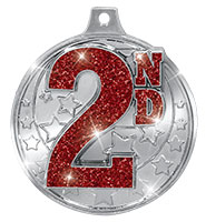 "2"" Shimmer 2nd Place Glitter Medals"