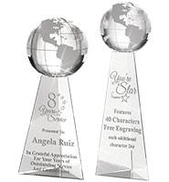 Tri-Pedestal Globe Crystals