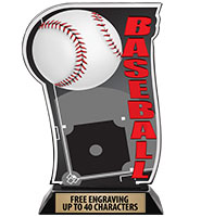 Spectrum Acrylic Baseball Trophy
