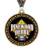 Universe Star Pinewood Derby® Insert Medal