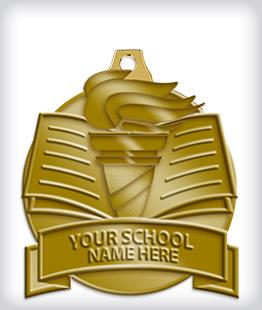 Antique Gold Custom Scholastic Medals