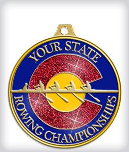 Glitter Custom Rowing Medals
