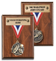 Wooden Ribbon Award Plaques
