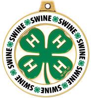 """2"""" 4-H Swine Rimz Medal"""
