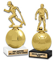 """8 1/2"""" Golden Sport Ball Trophies"""