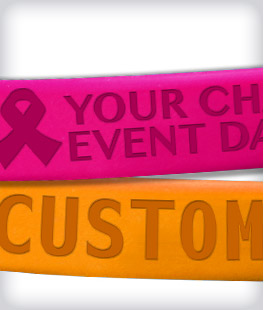 Custom Raised Embossed Awareness Bracelets