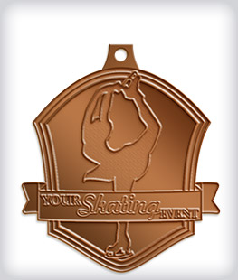 Antique Bronze Custom Skating Medals
