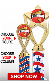 Kickball Column Trophies