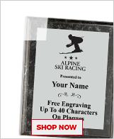 Alpine Ski Racing Plaques