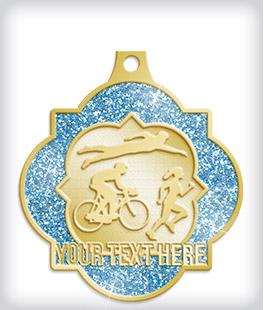 Glitter Custom Triathlon Medals