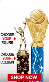 Volleyball Column Trophy