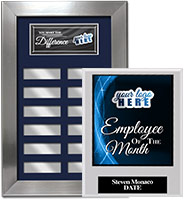 Silver Framed Perpetual Plaques
