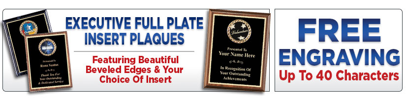 Executive Full Plate Insert Plaques