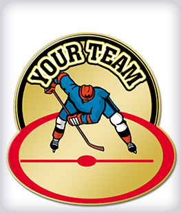 Custom Printed Hockey Pins