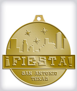 Antique Gold Custom Fiesta Medals