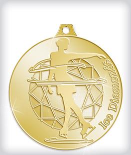 Shiny Gold Custom Skating Medals
