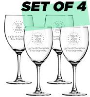 Set Of 4 Goblets 10.5oz