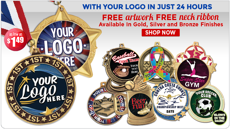 Crown Custom Logo Insert Medals