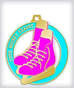 Glow in the Dark Custom Hockey Medals