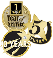 Years Of Service Recognition Pins