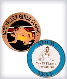 Custom Semi Cloisonne Wrestling Pins