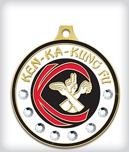 Rhinestone Custom Martial Arts Medals