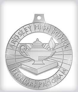 Shiny Silver Custom Scholastic Medals