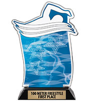 Spectrum Acrylic Swim Trophy