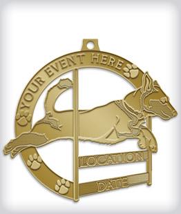 Antique Gold Custom Dog Medals