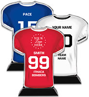 Acrylic Football Jersey Trophy