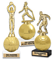 "8 1/2"" Golden Sport Ball Trophies"