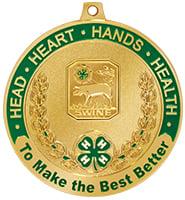 """2 1/2"""" 4-H Swine Medal"""