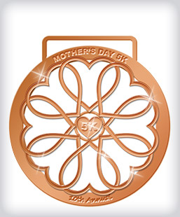 Shiny Bronze Custom Running Medals