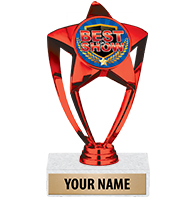 Red Star Insert Trophy