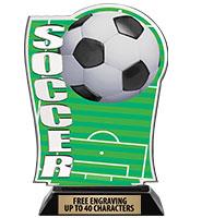 Spectrum Acrylic Soccer Trophy