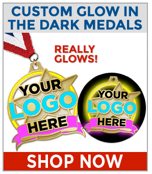 CUSTOM GLOW IN THE DARK MEDALS
